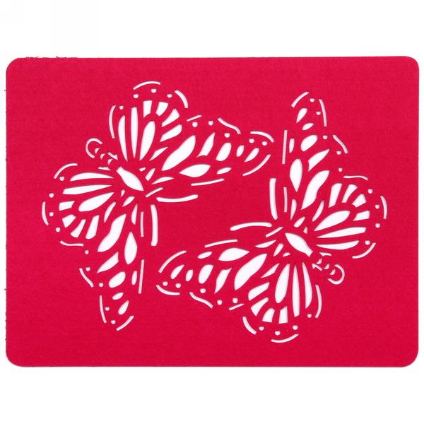 Салфетка на стол 40*30см Ажурная, Бабочки купить оптом и в розницу