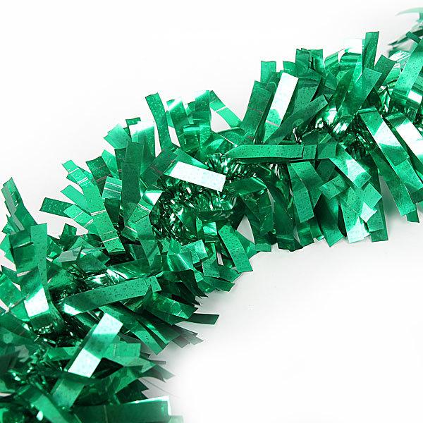 Мишура новогодняя 2 метра 10см ″Рождество″ зеленый купить оптом и в розницу