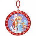 Подставка под горячее керамическая ″Дед Мороз со снегурочкой″ 16см купить оптом и в розницу