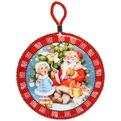 Подставка под горячее керамическая ″Дед Мороз и снегурочка″ 16см купить оптом и в розницу