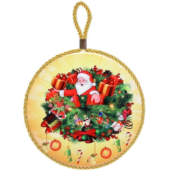 Подставка под горячее керамическая ″Дед Мороз в подарках″ 16см купить оптом и в розницу