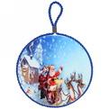 Подставка под горячее керамическая ″Дед Мороз в упряжке″ 16см купить оптом и в розницу