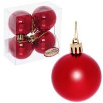 Новогодние шары 5 см (набор 4 шт) ″Глянец″, красный купить оптом и в розницу