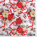 Скатерть 120*150см Новогодний цветок купить оптом и в розницу