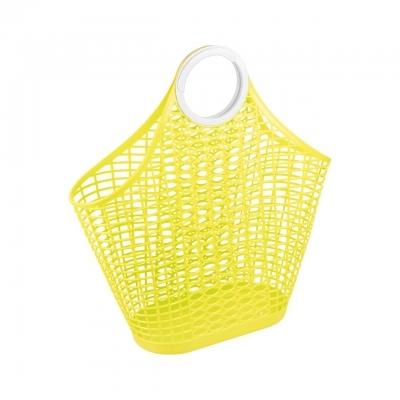 Корзина-сумка пл желтый (Октябрьский)*14 купить оптом и в розницу