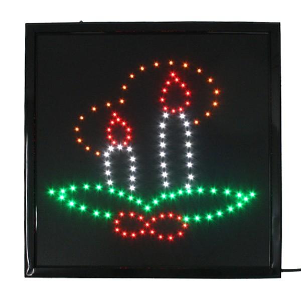 Световое табло LED 45*45см ″Свечи″, 220B, 4 цвета (LB-S23) купить оптом и в розницу