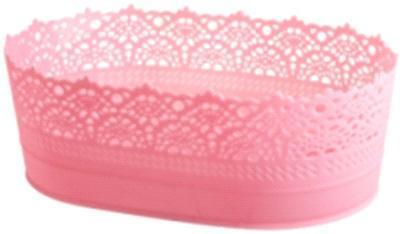 Корзинка овальная (код 4402) розовый*30 купить оптом и в розницу