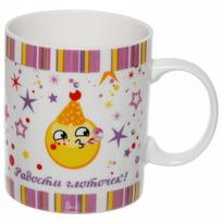 Кружка керамическая 330 мл ″Чай, чаек, чаечек, радости глоточек!″, Смайлы купить оптом и в розницу