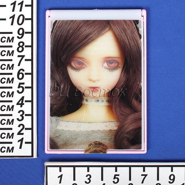 Зеркало косметическое ″Куколка с мигающими глазками″ 10.5х7.4см. 928-3D купить оптом и в розницу