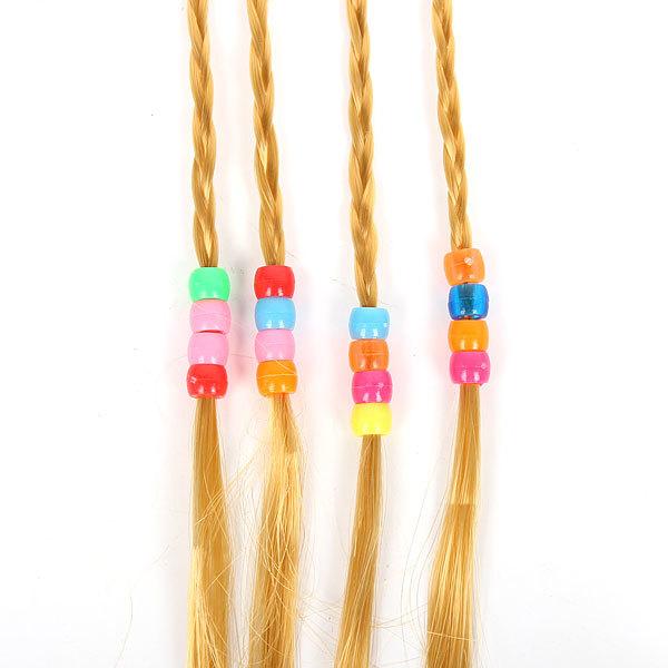 Волосы накладные ″Косички русые″ на резинкех 33 см 517-2 купить оптом и в розницу