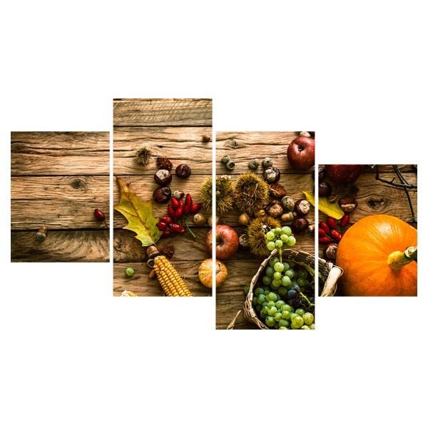 Картина модульная полиптих 60*129 см, овощи купить оптом и в розницу