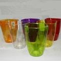 Кашпо для орхидей прозрачный- зелен Вулкано 13 1,12 л   *10  Form plastic купить оптом и в розницу