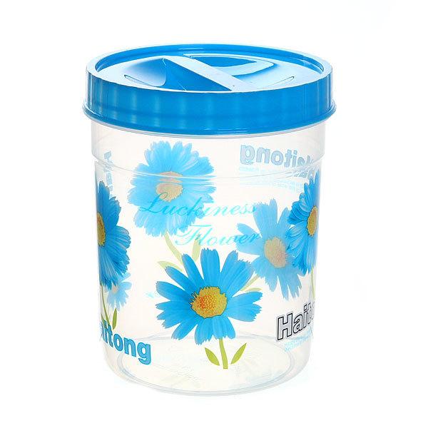 Набор банок для продуктов пластиковых ″Селфи″ 4 шт 300,600,1000,1500 мл голубой купить оптом и в розницу