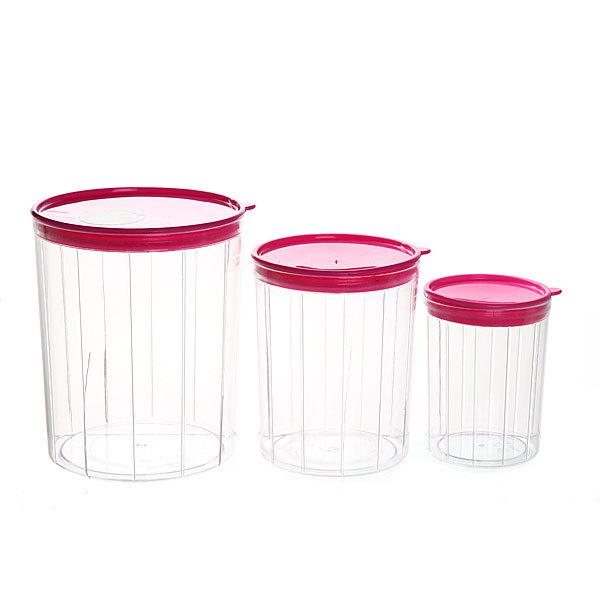 Набор банок для продуктов пластиковых ″Селфи″ 3 шт 500,1000,2000 мл купить оптом и в розницу