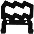 Крючок универсальный, серия ″Зодиак″, модель ″Водолей символ - 2″, цвет черный купить оптом и в розницу