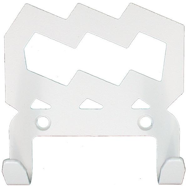 Крючок универсальный, серия ″Зодиак″, модель ″Водолей символ - 2″, цвет белый купить оптом и в розницу