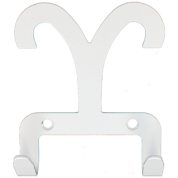 Крючок универсальный, серия ″Зодиак″, модель ″Овен символ - 2″, цвет белый купить оптом и в розницу