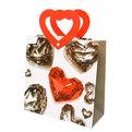 Пакет подарочный ″Сердечки Кристалл″ 22*22*9см L4 купить оптом и в розницу