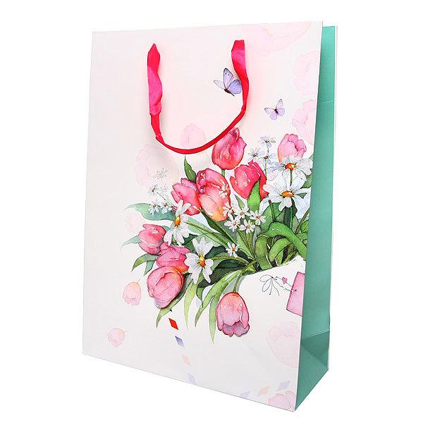 Пакет подарочный ″Цветочная феерия″ 42*30*12см G30 купить оптом и в розницу