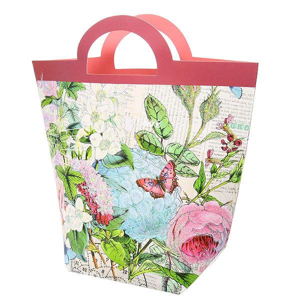 Пакет подарочный ″Сумочка цветы″ 30*25*10см S101 купить оптом и в розницу