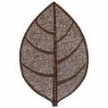 Салфетка на стол 30*45см плетеная, Листик коричневая купить оптом и в розницу