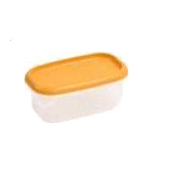 Контейнер для СВЧ прямоуг..LUX 0,6л оранж. Curver/прозрач./ 24 шт купить оптом и в розницу