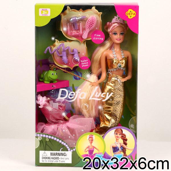 Кукла 6021 с платьями и с аксесс. в кор. Defa Lusy купить оптом и в розницу