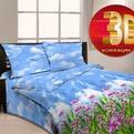 Евро бязь 3D Орхидея 3927/1 РБ купить оптом и в розницу