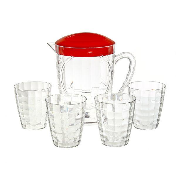 Набор питьевой 5 предметов ″Лёд″: кувшин 1,8л, 4 стакана 133 купить оптом и в розницу