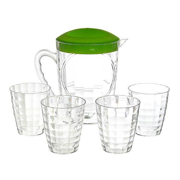 Набор питьевой 5 предметов ″Лёд″: кувшин 1,8л, 4 стакана купить оптом и в розницу