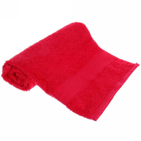 Махровое полотенце 50*90см малиновое ЭК90 Д01 купить оптом и в розницу