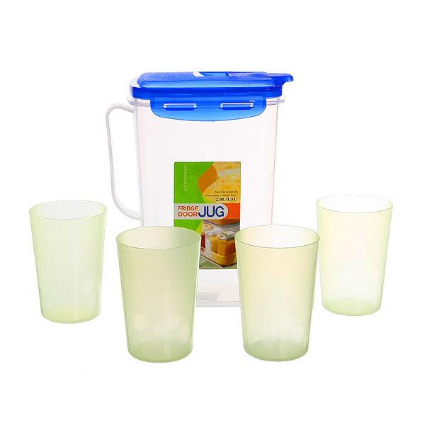 Набор питьевой 5 предметов: кувшин 1,8л, 4 стакана 9503 купить оптом и в розницу