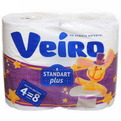 Бумага туалетная 2сл 4рул. ″Linia Veiro″ Standart Plus арт.3С24 (1x4)/15 купить оптом и в розницу