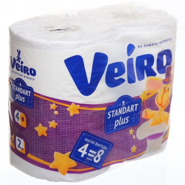 Бумага туалетная 2сл 4рул. ″Linia Veiro″ Standart Plus белая купить оптом и в розницу