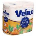 Бумага туалетная 2сл 4рул. ″Linia Veiro″ ″Цветущий апельсин″ ароматизированная оранжевая арт.4С24А1 купить оптом и в розницу