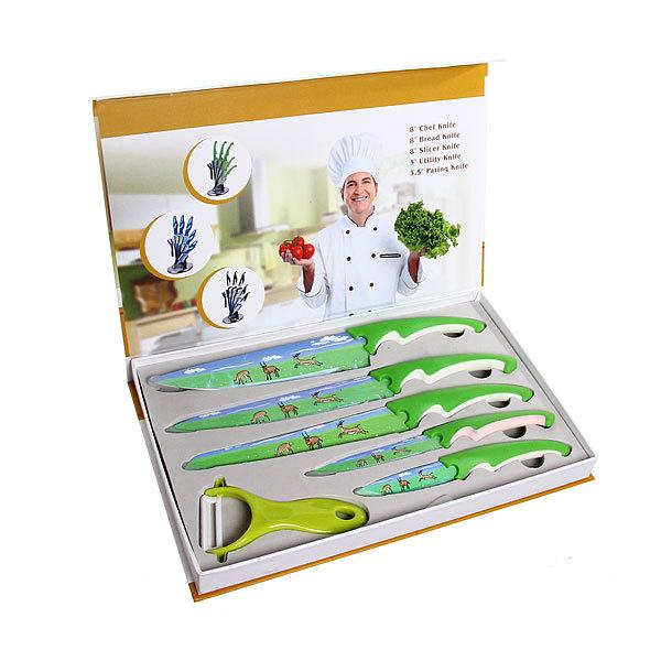 Набор ножей, 6 предметов (5 ножей, овощечистка) С068-3 купить оптом и в розницу