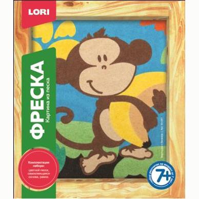 Набор ДТ Фреска Картина из песка Мартышка с бананом Кп-047 Lori купить оптом и в розницу