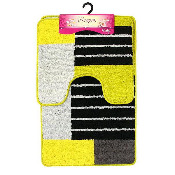 Набор ковриков Селфи для ванны и туалета 2 шт. 50*80+50*45 DA5961B купить оптом и в розницу