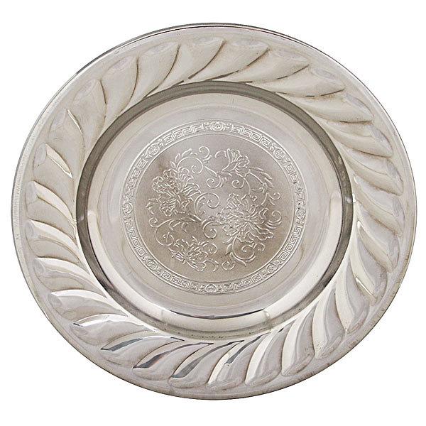 Тарелка металлическая 20 см ″Цветы″ купить оптом и в розницу