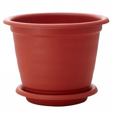 Горшок для цветов Натура D 140 mm с подставкой №   *60 купить оптом и в розницу