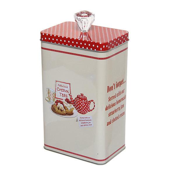 Банка для продуктов металлическая 1800мл, 11,5х8х19,5см, Чай купить оптом и в розницу