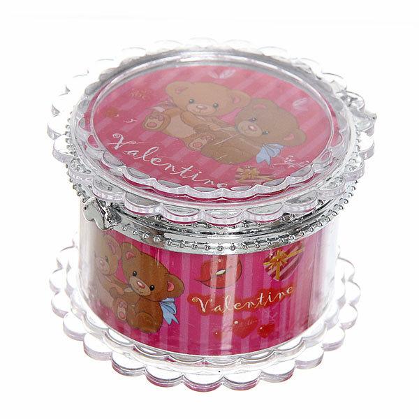 Шкатулка из пластика ″Мишки″ круг d6*4 см купить оптом и в розницу