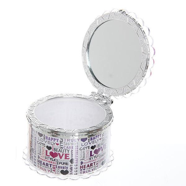 Шкатулка из пластика ″Любовь″ круг d7,5*5 см купить оптом и в розницу