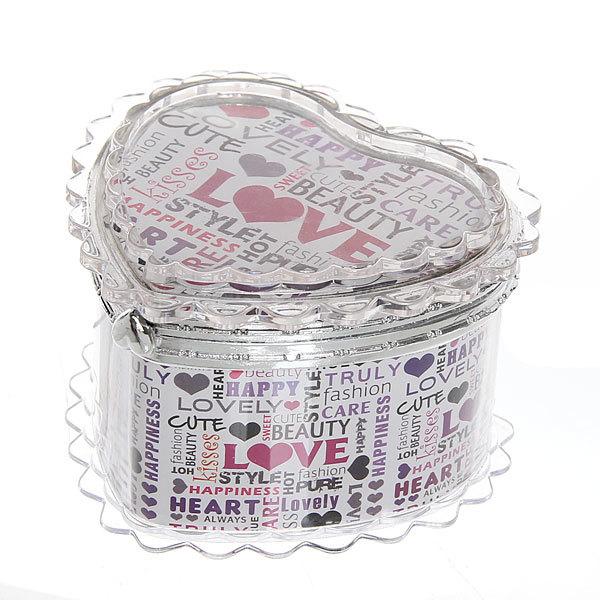 Шкатулка из пластика ″Любовь″ сердце 7*8*6 см купить оптом и в розницу