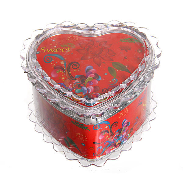 Шкатулка из пластика ″Сладкой″ сердце 7*8*6 см купить оптом и в розницу