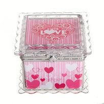 Шкатулка из пластика ″Сладкая любовь″ квадрат 7,5*7*6 см купить оптом и в розницу