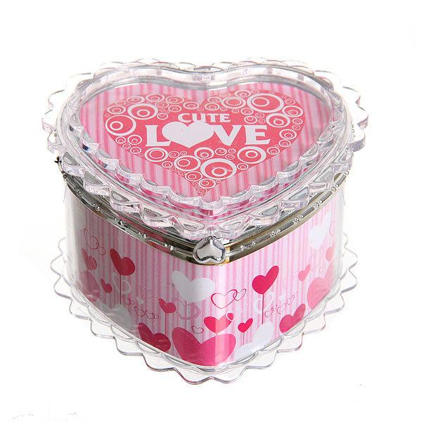 Шкатулка из пластика ″Сладкая любовь″ сердце 7*8*6 см купить оптом и в розницу