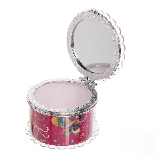 Шкатулка из пластика ″Счастливый праздник″ круг d7,5*5 см купить оптом и в розницу