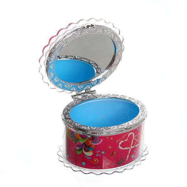 Шкатулка из пластика ″Счастливый праздник″ овал 8*7*6 см купить оптом и в розницу