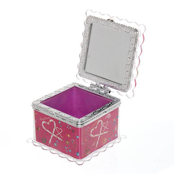 Шкатулка из пластика ″Счастливый праздник″ квадрат 7,5*7*6 см купить оптом и в розницу